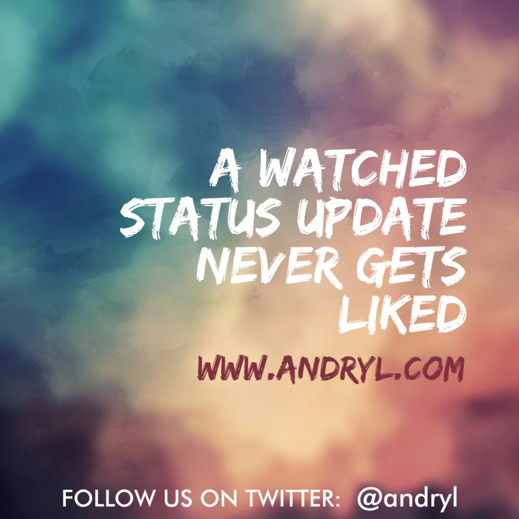 First World Wisdom: Watched Status