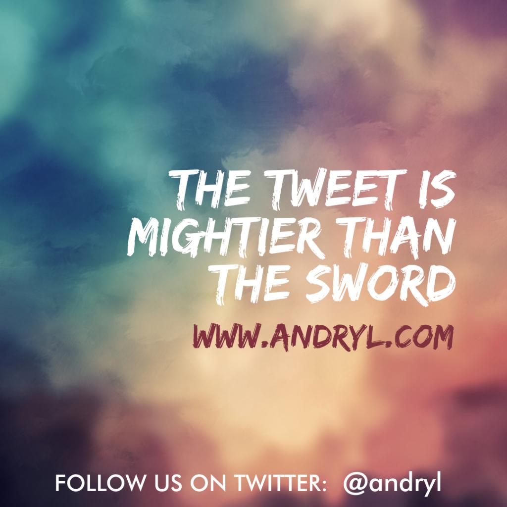 First World Wisdom: Tweet Sword